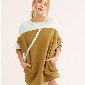NWT Free People fleece Jordan pullover